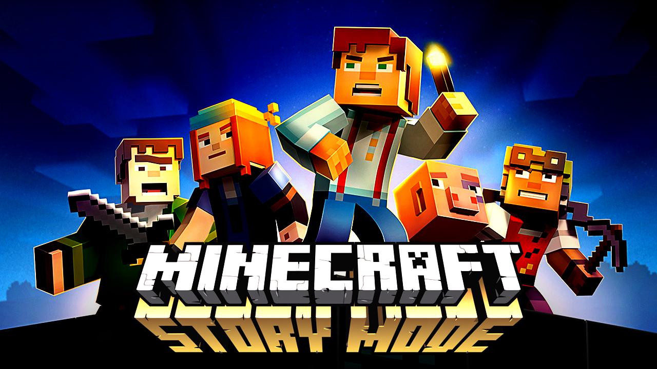 Gfx thumbnails minecraft story mode thumbnail template freedom - Minecraft story mode wallpaper ...