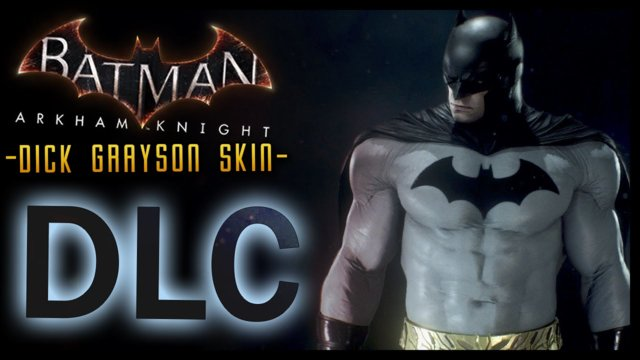 Batman Arkham Knight: DLC Dick Grayson Skin & LORE (Iconic Grey & Black)