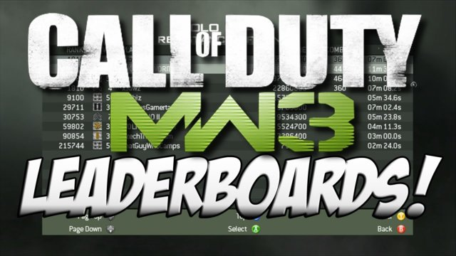 xJawz' MW3 Leaderboards! (W/ Whiteboy7thst, Syndicate & more!)