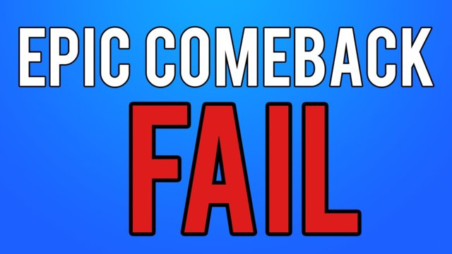 Epic Live Comeback FAIL!