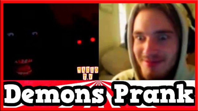 TWO SCARY DEMONS SCARE PEWDIEPIE - Funny Reactions