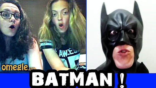 BATMAN Scary Omegle Prank
