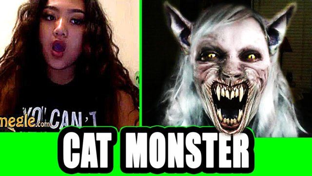 Funny Cat Monster Scare on Omegle !
