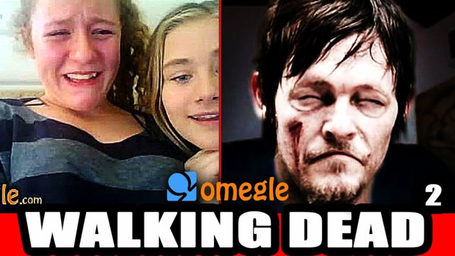 The Walking Dead - Scary Omegle Prank!