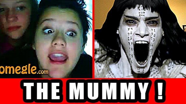 The Mummy Vs. Internet Video Chat - Omegle Scare Prank