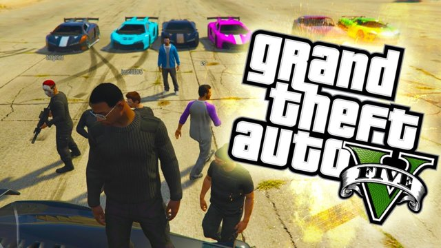 GTA 5 Online PS4 - 13 vs 1 BOUNTY SQUAD! Street Racing, Fails & More! (GTA Online Funny Moments PS4)