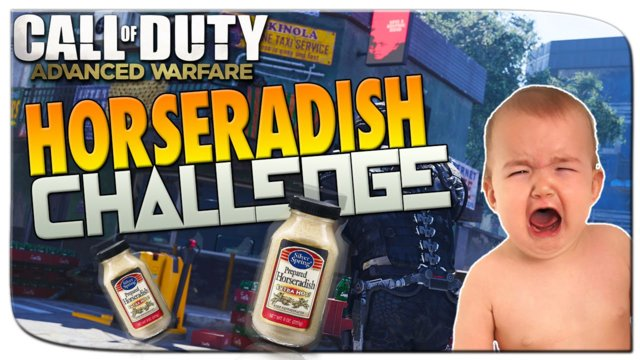 """Horseradish Challenge!"" Call of Duty Advanced Warfare Challenge! - Funny Moments"