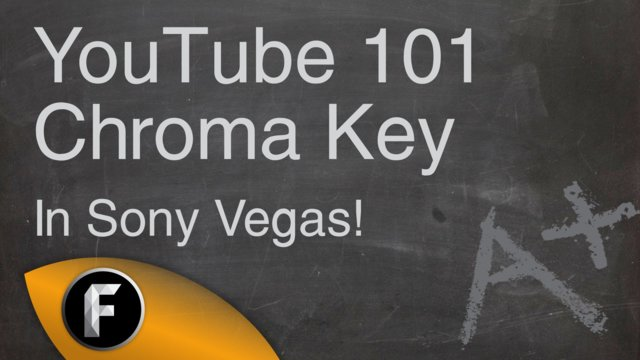 How to do chroma key in Sony Vegas - YouTube 101