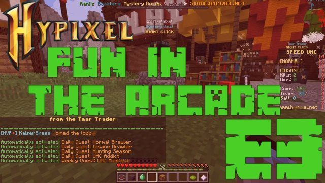 Hypixel Fun In The Arcade - E3 (With Special Mystery Box Opening)