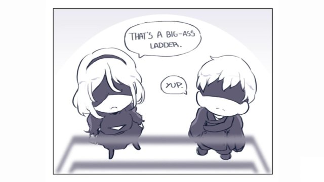 That ladder scene (Nier: Automata Comic)