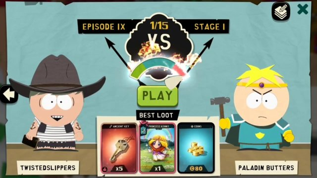 South Park Phone Destroyer (Android) - Episode 9 - Stages 1 to 3 (Paladin Butters)