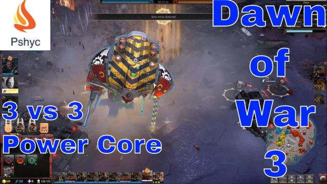 Dawn of War 3 Multiplayer Gameplay: 3v3 - Custom Match G.57 (Heal Everything  Space Marines)