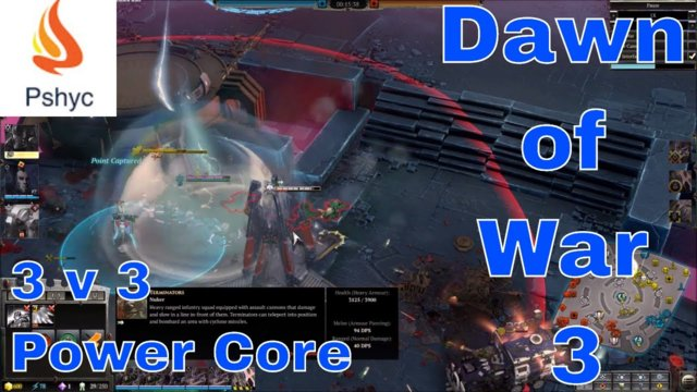Dawn of War 3 Multiplayer Gameplay: 3v3 - Custom Match G.58 (Bend thy knee for your Autarch)