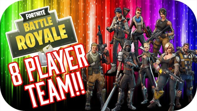8 Player Team - Fortnite Battle Royale Funny Moments