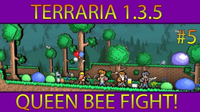 Terraria 1.3.5 #5 (Queen Bee Fight!)