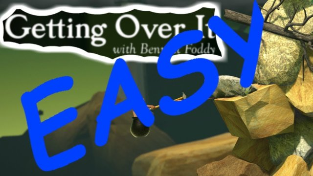 How to complete Getting Over It !?! (VERY EASY)