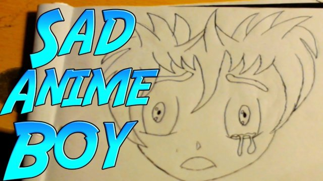 I Want To Learn How To Draw - Sad Anime Boy With Tears (Anime Style Drawing) Beginner Artist