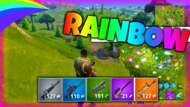 ONE OF EACH COLOUR! (Rainbow Challenge) | Fortnite Battle Royale