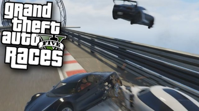 CRASHES, CHAOS, AND MEMES? | GTAV Stunt Races