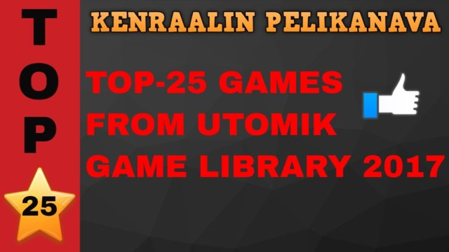 Top-25 games from Utomik game library
