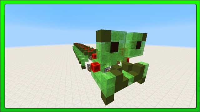 [Minecraft Concepts] Walking Caterpillar (Slime Block Flying Machine) + Tutorial