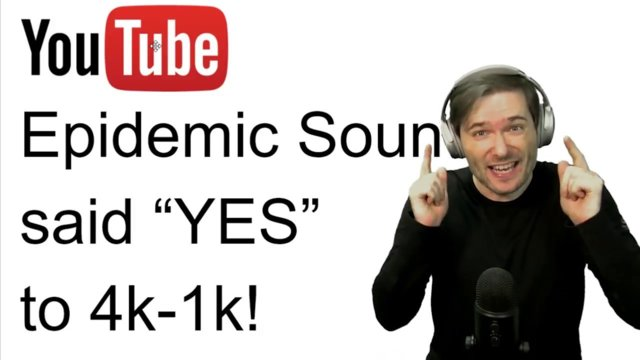"★ Epidemic Sound said ""YES"" to 4k-1k channels!"