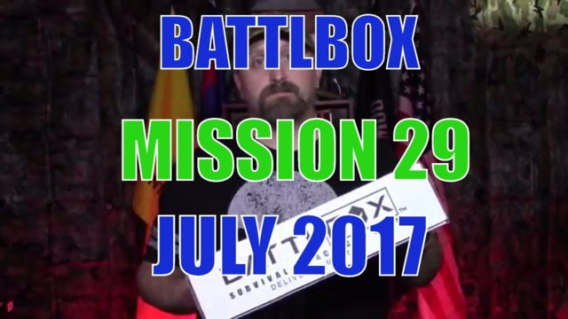 BATTLBOX JULY 2017 PRO BOX MISSION 29 unboxing