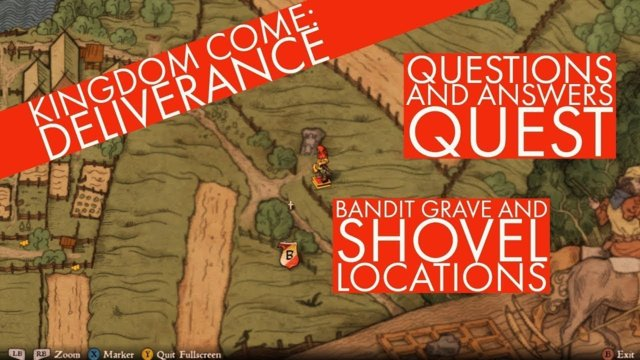 Bandit grave location and where you can find a spade - Questions and answers guest