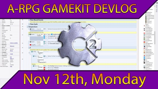 Gamekit Devlog (11/12/2018, Monday): Weather & Pre-alpha Work
