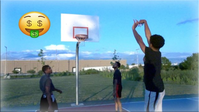INTENSE TRASH TALKING BASKETBALL HOOP SESSION!! - BRO GOT INJURED(FUNNY)