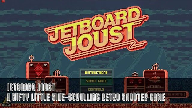 Jetboard Joust - A Nifty Little Side-Scrolling Retro Shooter Game