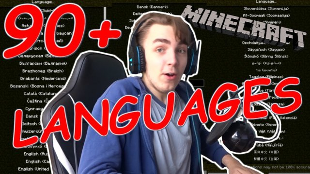 Minecraft...but every 2 minutes the LANGUAGE CHANGES!!! (90+ languages!)