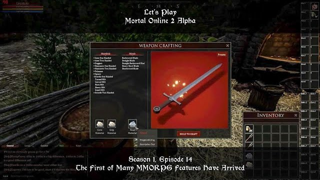 S1, Ep14. The First of Many MMORPG Features Have Arrived | Let's Play: Mortal Online 2 Alpha