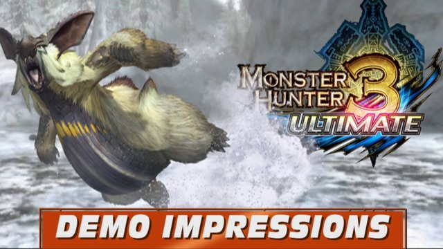 Monster Hunter 3 Ultimate Demo Wii U - Lagombi hilarious Hunt!